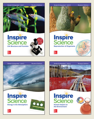 Inspire Science: Integrated G6 Student Edition 4 Unit Bundle