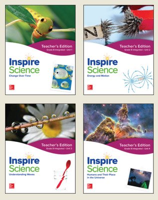 Inspire Science: Integrated G8 Teacher Edition 4-Unit Bundle
