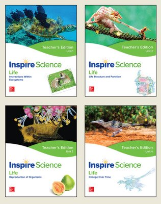 Inspire Science: Life Teacher Edition 4 Unit Bundle