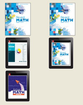 Reveal Math Course 1, Student Bundle with ALEKS.com and Arrive Math Booster, 6-year subscription
