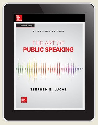 Lucas, The Art of Public Speaking, 2020, 13e, Online Student Edition, 1 yr subscription