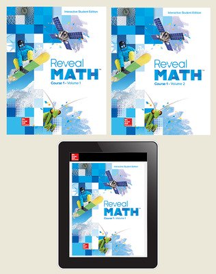 Reveal Math Course 1, Student Bundle (Print + Digital), 1- year subscription