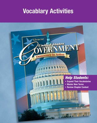 United States Government, Democracy in Action, Vocabulary Activity