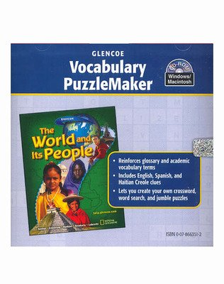 The World and Its People, Vocabulary PuzzleMaker CD-ROM