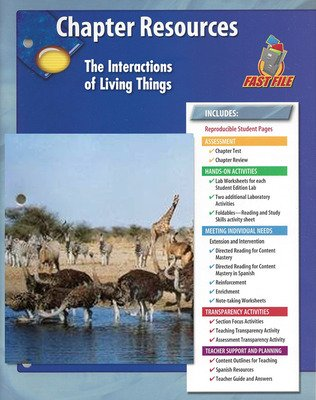 Glencoe iScience, Level Green, Grade 7, Chapter Fast Files: The Interactions of Living Things