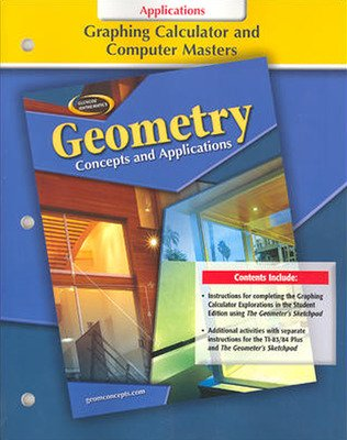 Geometry: Concepts and Applications, Graphing Calculator & Computer Masters