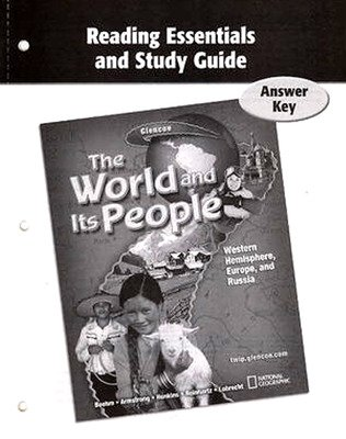 The World and Its People: Western Hemisphere, Europe, and Russia, Reading Essentials and Study Guide, Answer Key