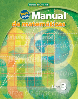 Quick Review Math Handbook, Book 3, Spanish Student Edition