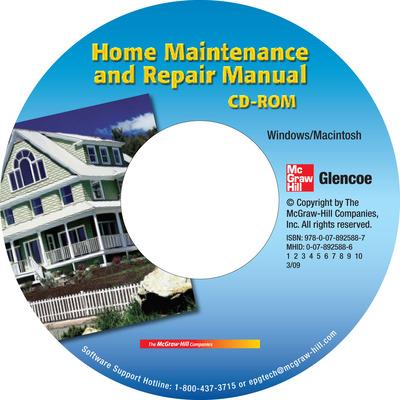 Home Maintenance and Repair Manual CD-ROM