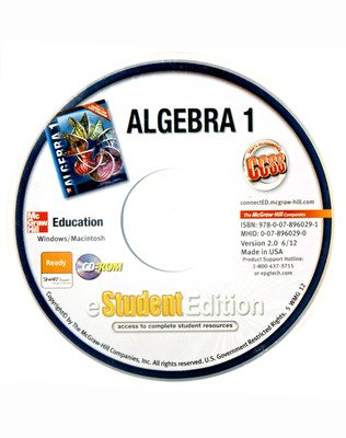 Algebra 1, eStudentEdition CD