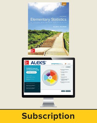Bluman, Elementary Statistics, 2018, 10e, ALEKS®360 Student Bundle, 6-year subscription