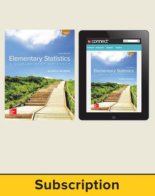 Bluman, Elementary Statistics, 2018, 10e, Student Bundle (Student Edition with ConnectED eBook) 1-year subscription