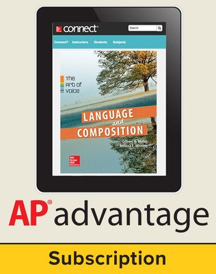Muller, Language & Composition: The Art of Voice, 2014 1e, AP advantage Digital Bundle (ONboard(v2), Connect Composition, SCOREboard(v2)), 6-year subscription