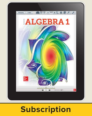 Glencoe Algebra 1 2018, eStudent Edition online, 1-year subscription