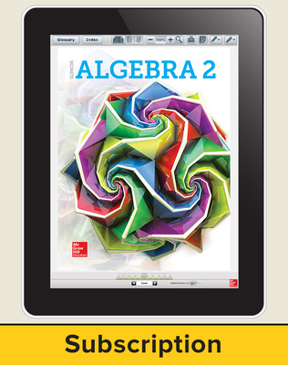 Glencoe Algebra 2 2018, eStudent Edition online, 1-year subscription