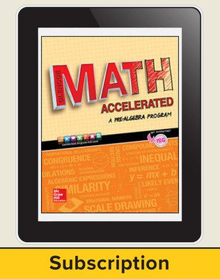 Glencoe Math Accelerated 2017, eStudentEdition Online, 3-year subscription