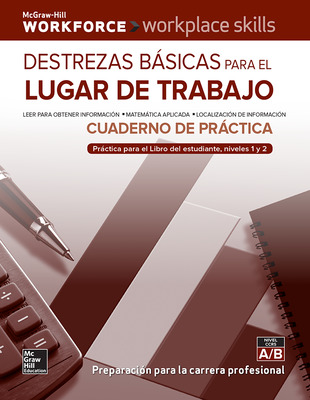 Workplace Skills Practice Workbook, Basic Skills for the Workplace (Spanish Edition), 10-pack