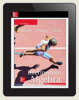 Miller, Intermediate Algebra, 2018, 5e, ConnectED eBook, 1-year subscription