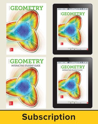 Glencoe Geometry 2018, Student Bundle + ISG (1 YR Print + 6 YR ISG + 6 YR Digital), 6-year subscription