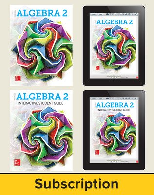 Glencoe Algebra 2 2018, Student Bundle + ISG (1 YR Print + 6 YR ISG + 6 YR Digital), 6-year subscription