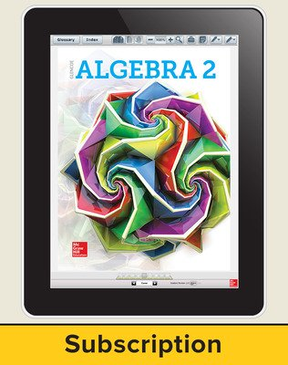 Algebra 2 2018, eStudentEdition online, 6-year subscription