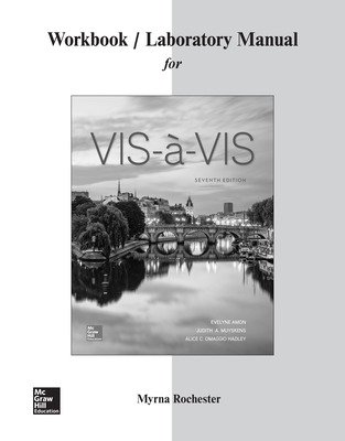 Workbook/Laboratory Manual for Vis-à-vis
