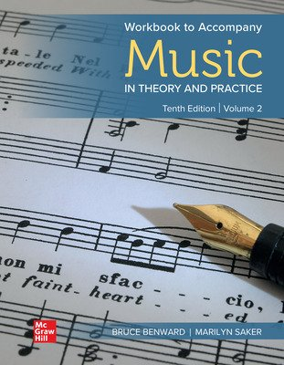 Workbook for Music in Theory and Practice, Volume 2, Loose-Leaf