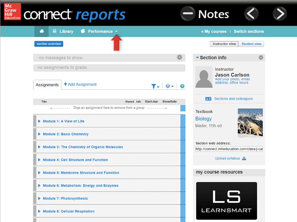Connect Reports Screenshot