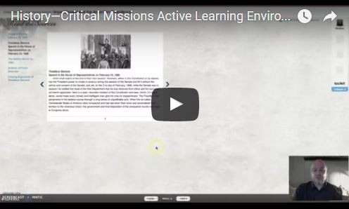History-Critical Missions Active Learning Environment Video