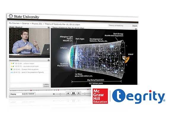Tegrity screenshot and logo