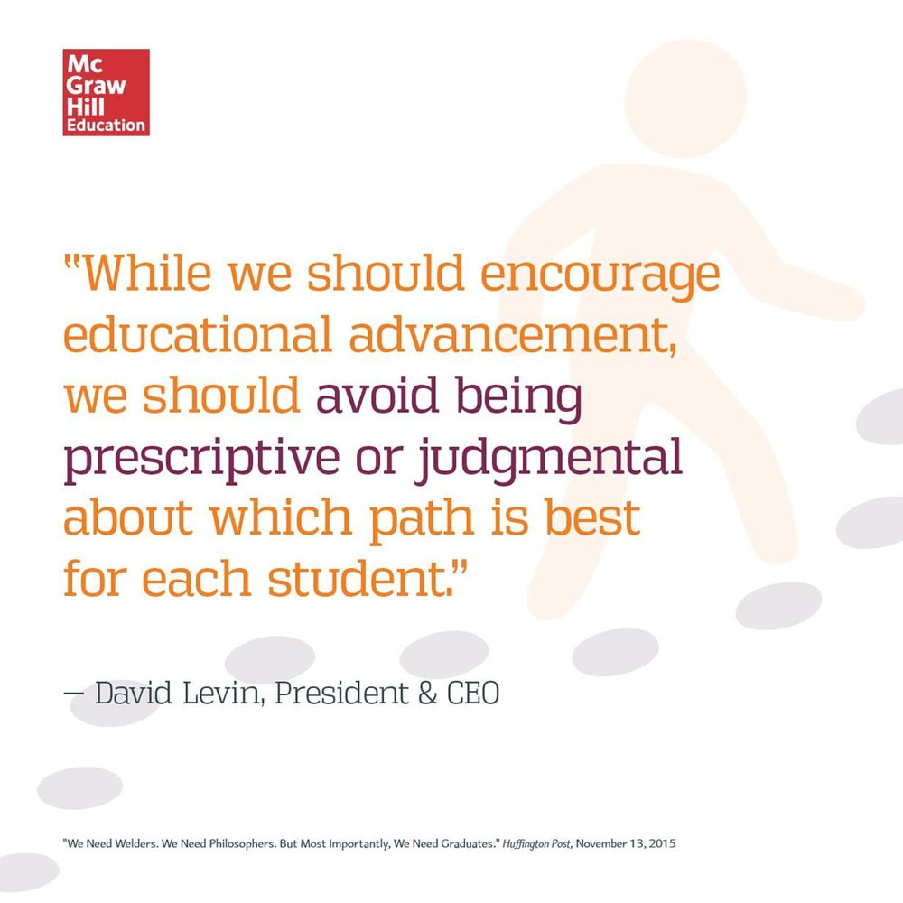 David Levin on the importance of graduates in vocational and academic education for Huffington Post.
