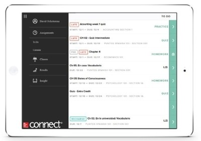 The new mobile-first version of McGraw-Hill Connect