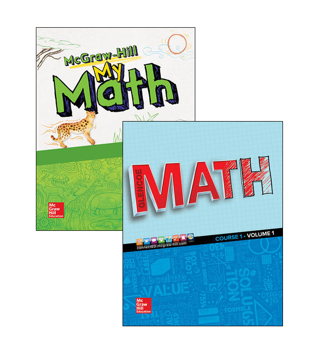 McGraw-Hill My Math and Glencoe Math covers