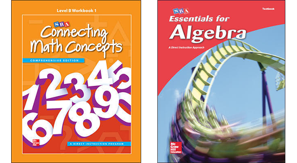 Connecting Math Concepts and Essentials for Algebra covers