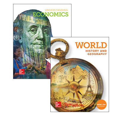 World History & Geography and Understanding Economics covers