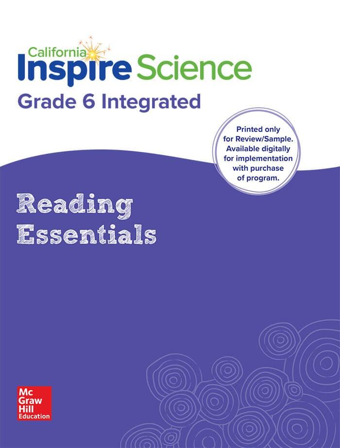 Inspire Science Grade 6 Integrated Reading Essentials