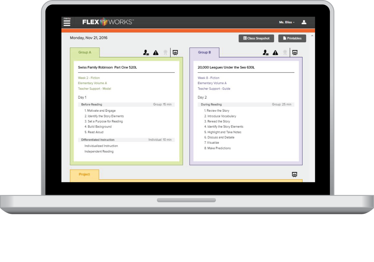 Teacher FLEXworks Screenshot